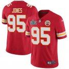 Youth Kansas City Chiefs #95 Chris Jones Red Jersey 2020 Super Bowl LIV