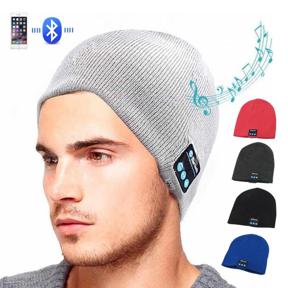Soft Wireless Warm Beanie Hat Bluetooth Smart Cap Headphone Headset Speaker Mic