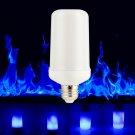 E27 LED Corn Blue Flame Effect Simulated Nature Fire Light Bulb 9W 4 Modes Lamp