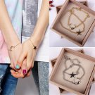 2pcs Trendy Friendship Best Friends Sister Moon & Star Charm Bracelet Chain
