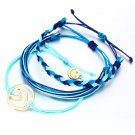 3pcs/Set Rope Braided Friendship Bracelets Wave Unisex Charm Adjustable Bracelet