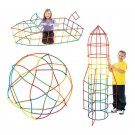 100Pcs Plastic Boys Girls 4D Straw Building Blocks Joint Funny Development Toys