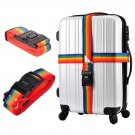 4M Long Luggage Suitcase Baggage Cross Strap Belt With Secure Coded Lock Rainbow
