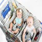 Sale Shopping Cart Hammock (Gray Aqua Quatrefoil)