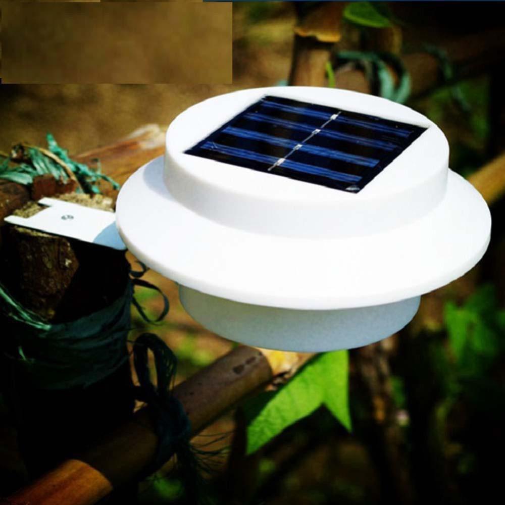 Waterproof LED Solar Power Wall Light Outdoor Garden Gutter Fence Yard Roof Lamp