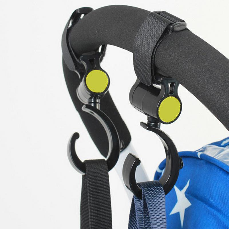 2 PCS/LOT Baby Stroller Accessories Hook Multifunction Baby Stroller Black High