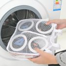 Polyester Sneaker Wash and Dry Bag for Laundry Machines - White Washer Dryer Bat