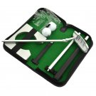 Portable indoor golf putting training set executive practice kit putter Cup Case