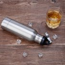 Stainless Steel Beer Insulator Cup Cold Keeper Holder with Metal Bottle Opener