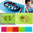 mockins Mess Free Silicone Suction Baby Placemat With Bowl & Plate Safe F