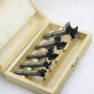Forstner Drill Bit 5pcs 15mm-35mm Carbon High Speed Steel Woodworking Hole Saw