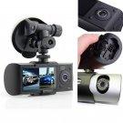"R300 2.7""""Dual Lens Dash Cam Full HD Car DVR Camera Video Recorder w/ GPS Logger"