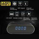 HD 1080P Wifi Wireless Spy Hidden Camera Motion Security+Alarm Clock IR Night DV