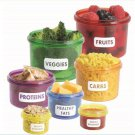 PERFECT PORTIONS PLASTIC CONTAINERS Healthy Diet No Counting Calories 14 Pc NEW