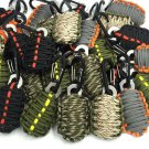 Handy Paracord Grenade Bracelet Keychain Outdoor Fishing Emergency Survival Kit