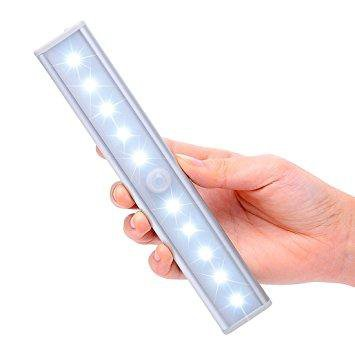 GE Battery-Operated, Motion-Activated 12-Inch LED Light Bars 2 pack 10217 A3557V