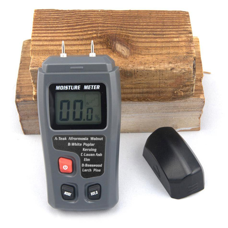 Digital LCD Moisture Temperature Meter Humidity Timber Wood Damp Tester Detector