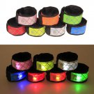 LED Slap Band Glowing Wristband Light Up Safety Reflective Gear Running Bracelet