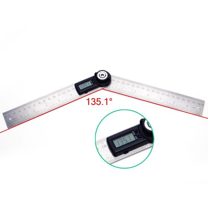 400mm 2 in1 Digital Angle Finder Meter Protractor Goniometer Ruler 360 Measurer