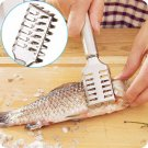 Kitchen Tool Fish Scale Remover Cleaner Scaler Scraper Peeler Stainless Steel