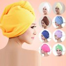 Excellent Magic Microfiber Hair Dryer Drying Towel Turban Cap Hat Head Wrap BBUS