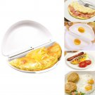 Microwave Omelet Mold Poach Cooking Cooker Pan Maker Egg Poacher Kitchen Tool