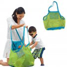 Portable Sand Away Carry Kids Toys Mesh Bag Tote Beach Storage Shell Net Bags