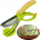 Toss and Chop Salad Tongs Scissors Made of Anti-Rust Stainless Steel, Green