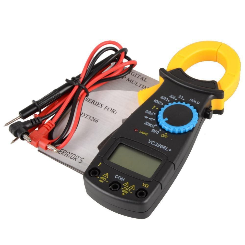 Digital Amper Clamp Meter Multimeter Current Pincers Voltmeter Ammeter Tester