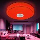 Modern Pendant Flush Mount Lamp Bluetooth Speaker LED RGB Music Ceiling Light US