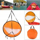 """42"""""""" Windpaddle Kayak Wind Sail Kit Popup Board Downwind Paddle with Clear Window"""