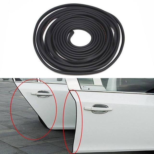 16FT/5M Black Car Door Moulding Trim Rubber Strip Scratch Protector Edge Guard