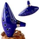 12 Hole Ocarina Ceramic Alto C Legend of Zelda Ocarina Flute Blue Instrument New