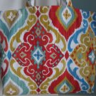 NEW Large Fiesta Folding Eco Friendly Canvas Tote Bag with Cell Phone Pocket