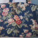 NEW Lg Roses on Navy Folding Eco Friendly Tote Bag with Cell Phone Pocket