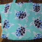 NEW Lg Sea Turtles Folding Eco Friendly Tote Bag with Cell Phone Pocket