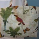 NEW Lg Tommy Bahama Palms Designer Print Folding Eco Friendly Tote Bag with Cell Phone Pocket