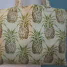 NEW Lg Waverly Pineapple Folding Eco Friendly Tote Bag with Cell Phone Pocket