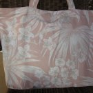 NEW Large White Orchids Canvas Folding Eco Friendly Tote Bag with Cell Phone Pocket
