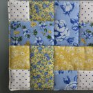Handmade Yellow Ribbons Quilted Hot Pads, Pot Holders, Mug Rugs - Sold in Pairs