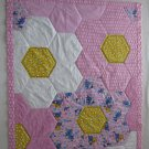Flowers and Eeyore with Winnie the Pooh Handmade Pieced Quilt