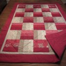NEW Handmade Pieced Lap Quilt - Ruby
