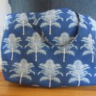 NEW Lg Tommy Bahama Blue Palms Designer Print Folding Eco Friendly Tote Bag with Cell Phone Pocket