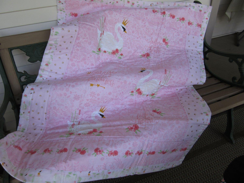 NEW Handmade Pieced Quilt - Swan Princess