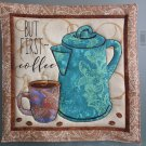 Use for Mug Rug, Pot Holder or Hot Mat - Handmade Coffee Pot Print - sold single