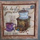 Use for Mug Rug, Pot Holder or Hot Mat - Handmade Coffee Grinder Print - sold single