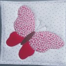Red Butterfly, Use for Mug Rug, Pot Holder or Hot Mat - Handmade - sold single