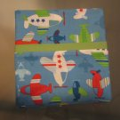 Airplanes fits Standard or Queen Size Cotton Pillow Case