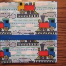 Trains fits Standard or Queen Size Cotton Pillow Case