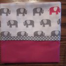Elephants fits Standard or Queen Size Cotton Pillow Case